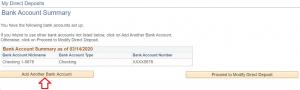 Add Direct Deposit Account