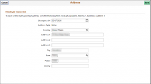 Update Address Form