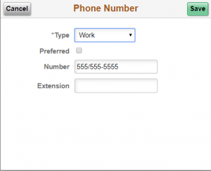Update Phone Number Form