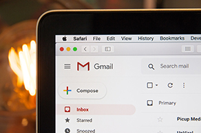 Gmail on Laptop