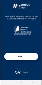 #CampusClear Start Screen