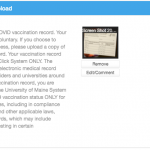 Vaccination Card Upload Complete