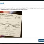 Vaccination Card Upload Verify