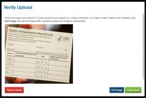 Verify Upload Screenshot