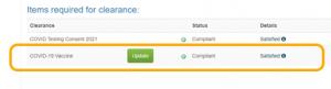 Compliant Status Screenshot