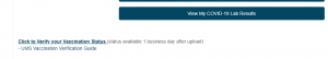 Verify Vaccination Link Screenshot