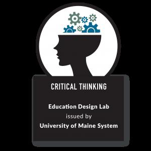 Education Design Lab Critical thinking Logo - Link to 21st Century Skill Badges