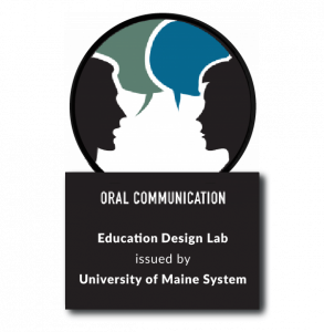 Oral Communication Badge from Education Design Lab