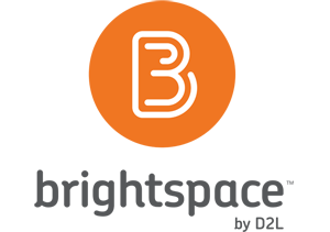 logo for brightspace by D2L