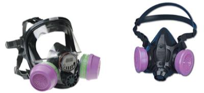 Half face and full-face respirators