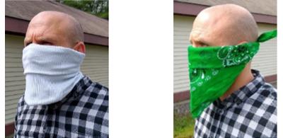 neck gator and bandana style masks