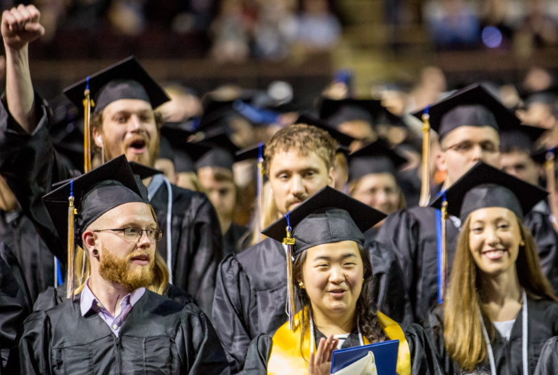 group of jubilant graduates
