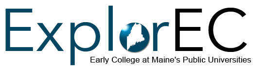 Logo for ExplorEC: Early College at Maine's Public Universities